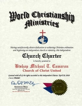 wcm church charter certificate